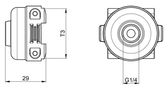 Disegno tecnico RACCORDO 219035 ARAG