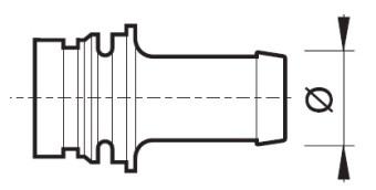 Disegno tecnico RACCORDO PTG 463001.A13 ARAG