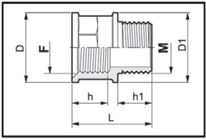 Disegno tecnico MANICOTTO 2452055 ARAG