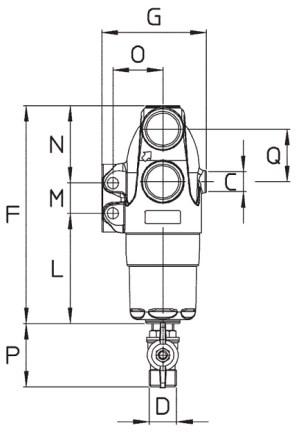Dimensioni FILTRO M144 144.504.15 BRAGLIA