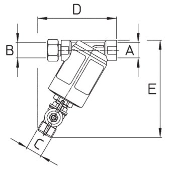 Dimensioni FILTRO M146 BRAGLIA 146.504.10