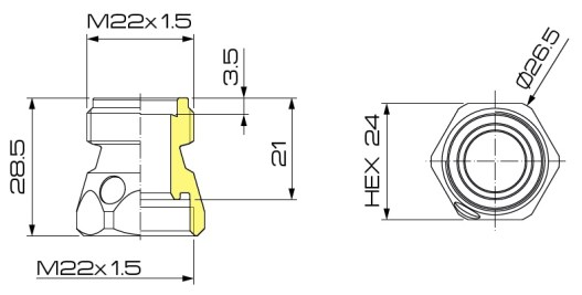 Dimensioni adattatore antideriva 75.8.18 BRAGLIA