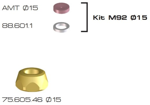 KIT M92 DIAMETRO 15 BRAGLIA