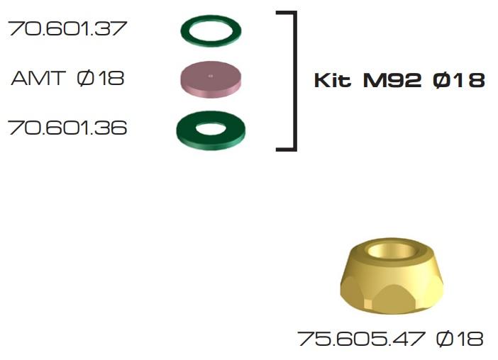 KIT M92 DIAMETRO 18 BRAGLIA