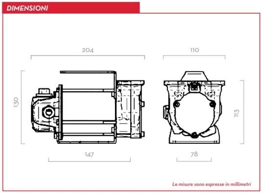 Dimensioni PIUSI BP3000