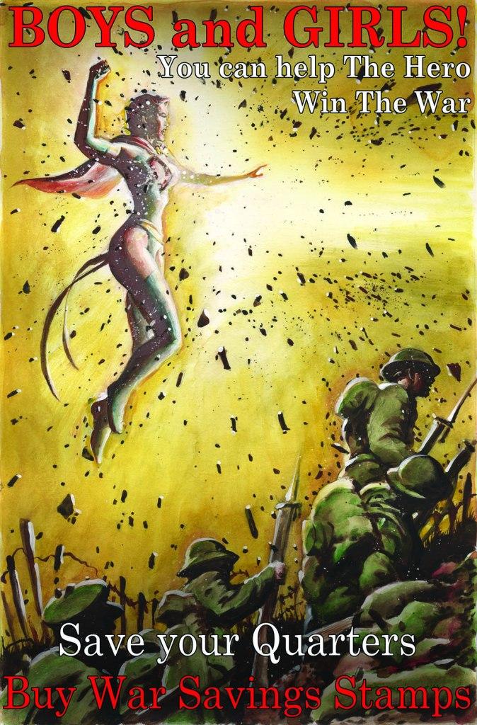 Hero's Death Postcard War