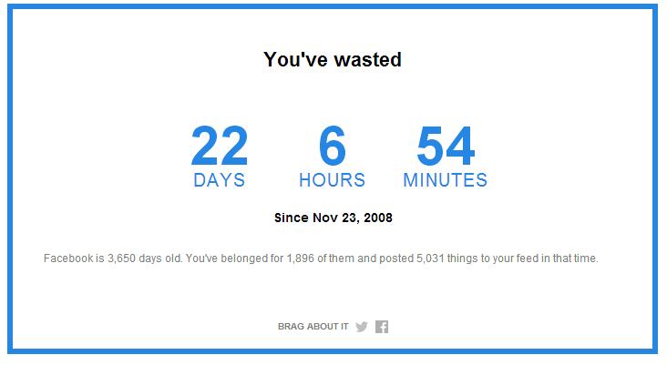Temps perdu sur facebook