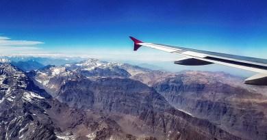 Fotografando a paisagem através das janelas de um avião