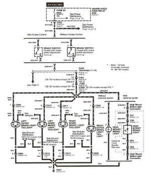 1991 Honda Civic Electrical Wiring Diagram and Schematics