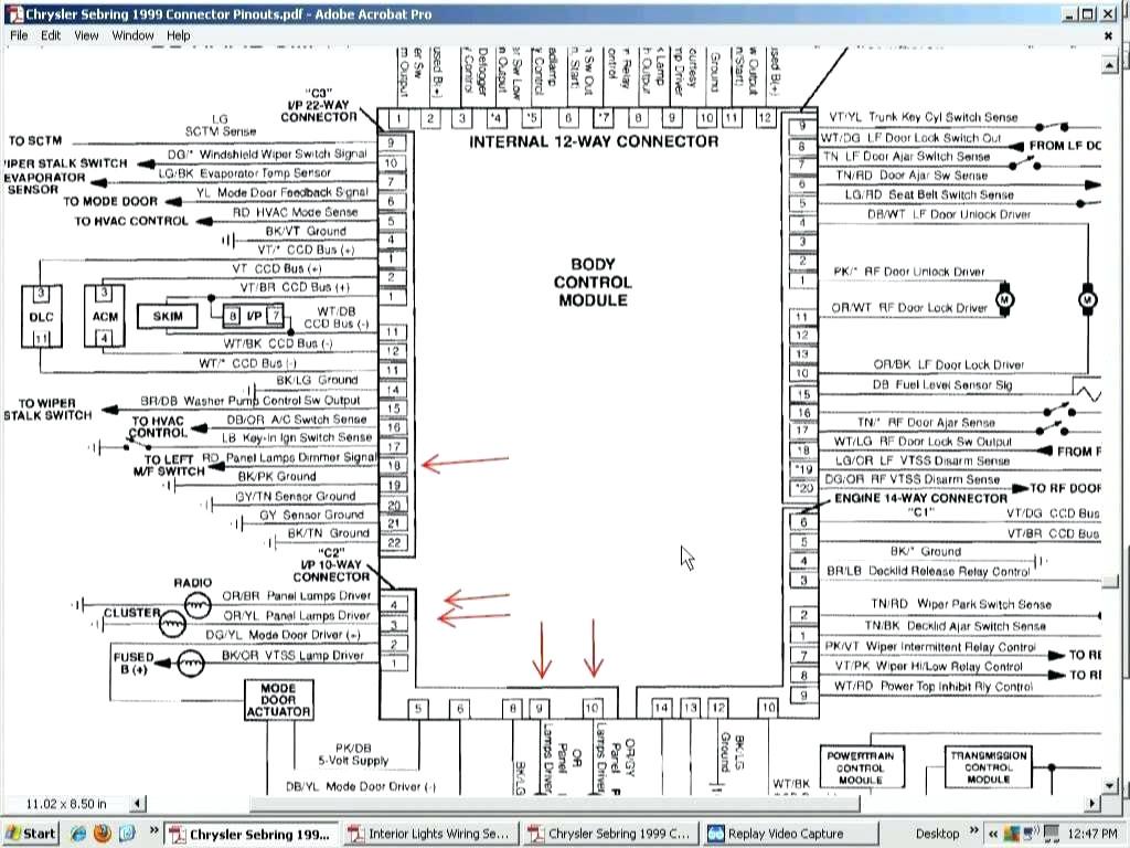 Chrysler Sebring Radio Wiring Diagram