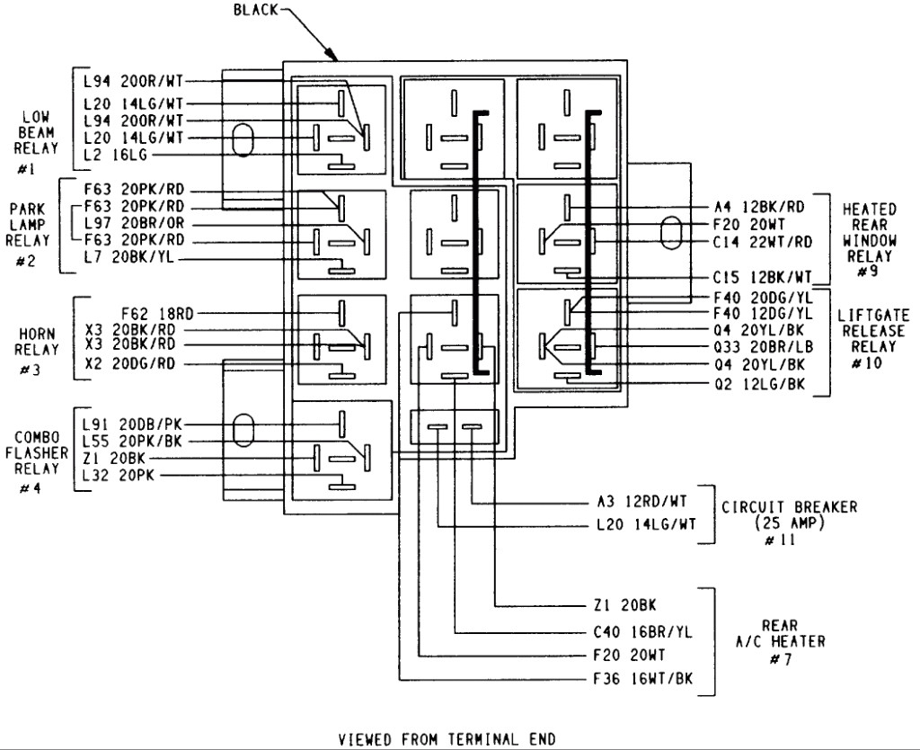 Dodge Grand Caravan Relay Diagram
