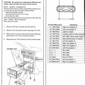 2005 Honda Element Stereo Wiring Diagram | Free Wiring Diagram