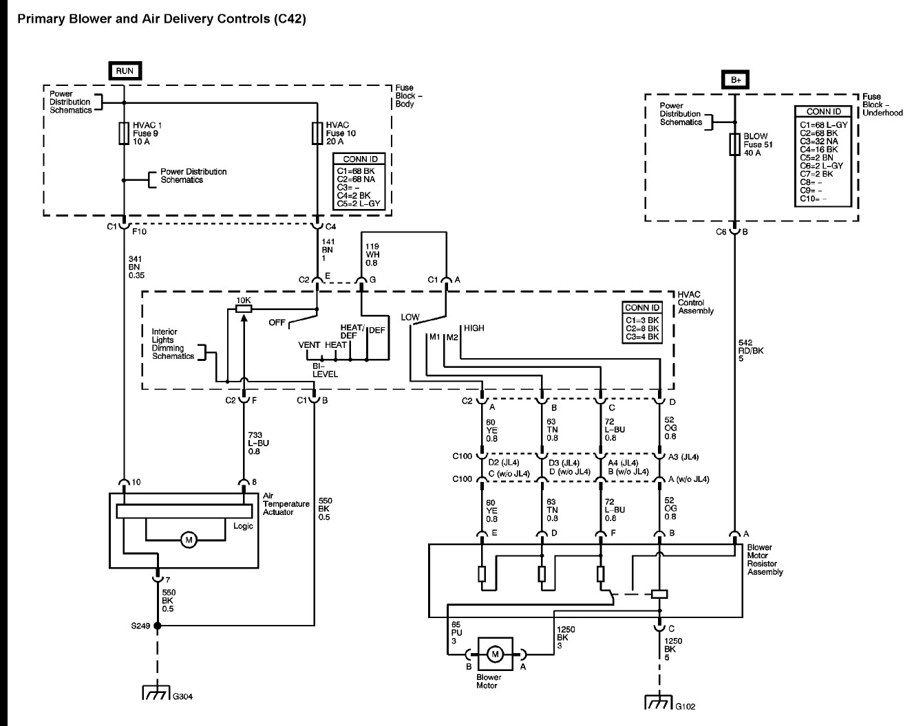 Chevy Silverado Blower Motor Resistor Wiring Diagram