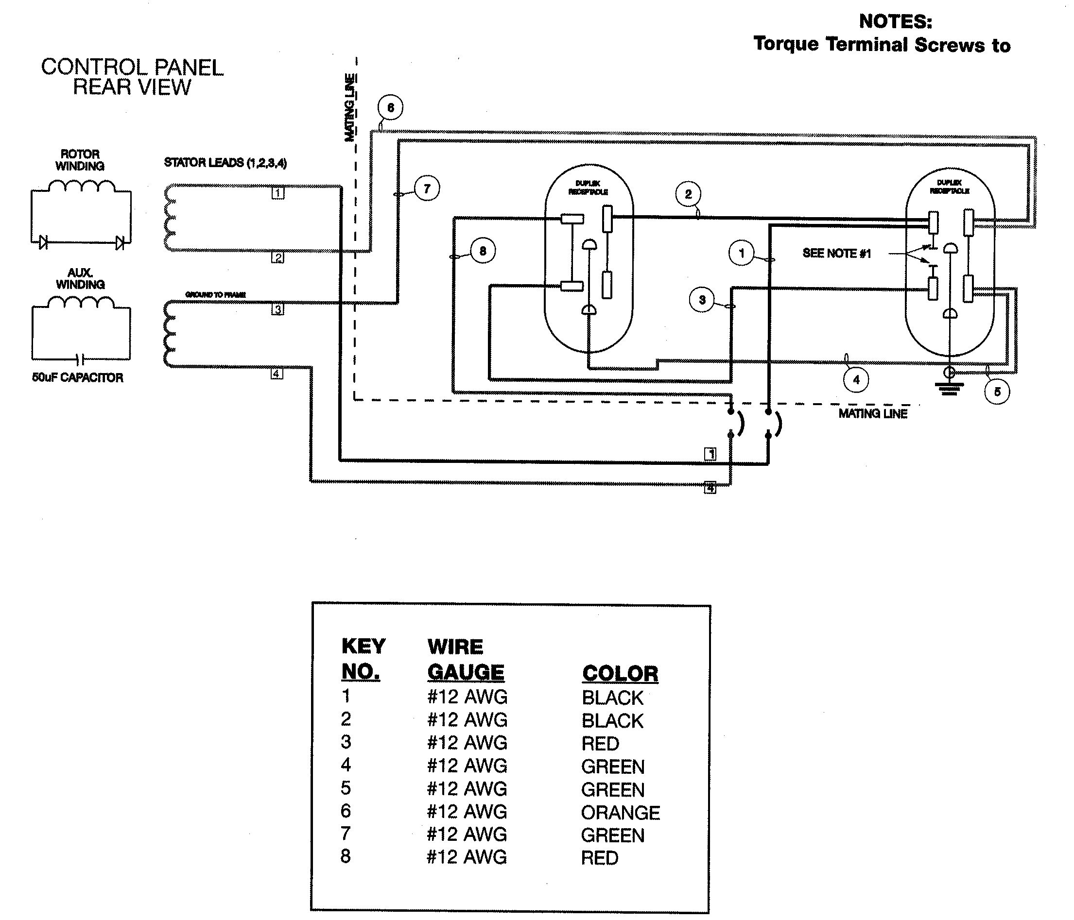 30 Amp Generator Diagram
