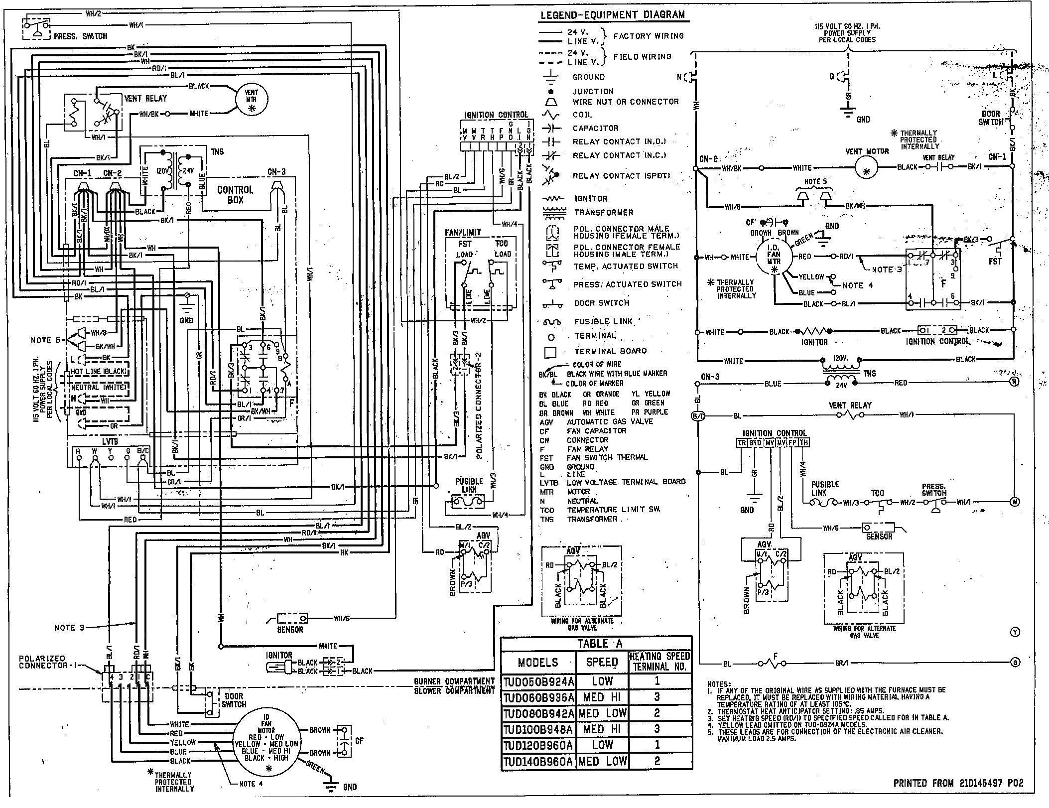 American Standard Wiring Diagrams