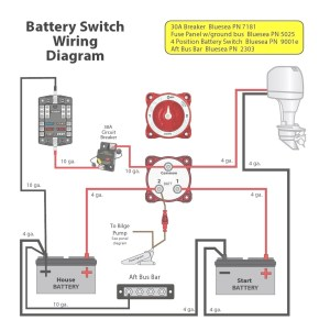 Blue Sea Dual Battery Switch Wiring Diagram | Free Wiring