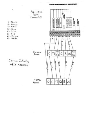 Carrier Infinity thermostat Wiring Diagram   Free Wiring Diagram