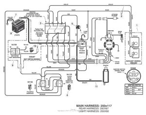 Craftsman Riding Lawn Mower Lt1000 Wiring Diagram | Free