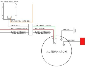 Delco 3 Wire Alternator Wiring Diagram | Free Wiring Diagram