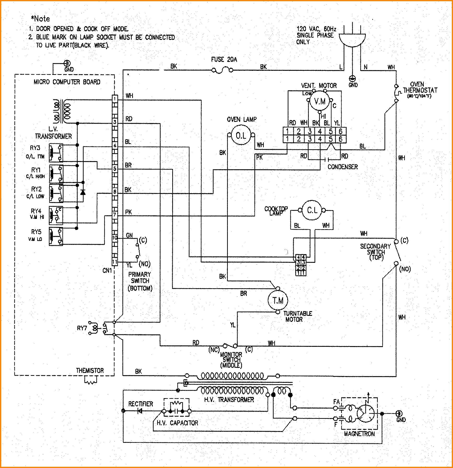 Blue M Oven Wiring Diagram