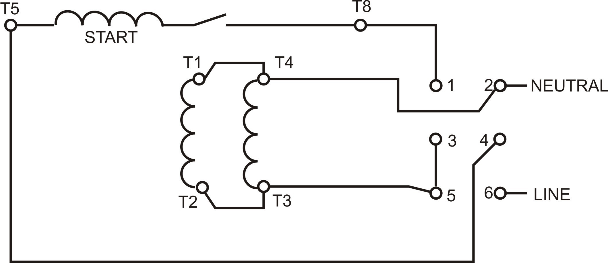single compressor wiring to capacitor