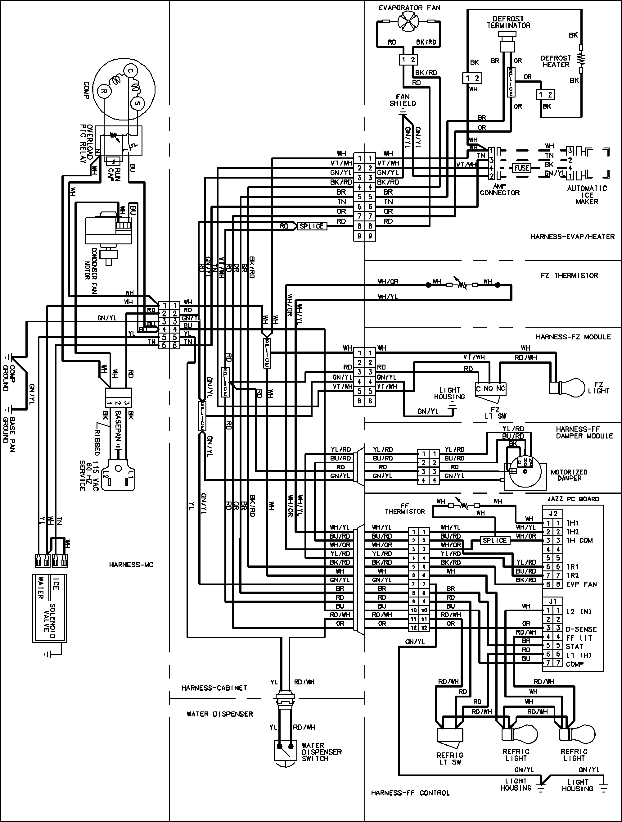 on kelvinator refrigerator wiring diagram