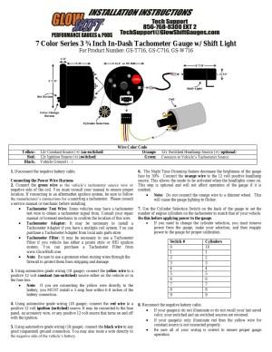 Glowshift Boost Gauge Wiring Diagram | Free Wiring Diagram