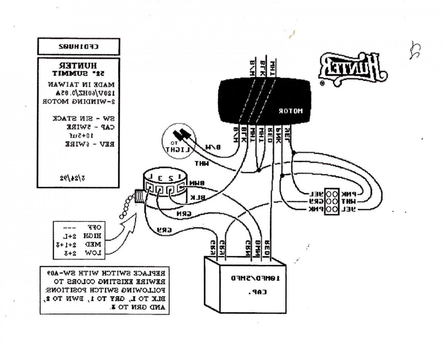 Hampton Bay Ceiling Fan Switch Wiring Diagram