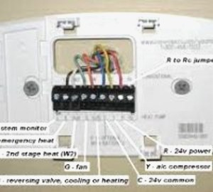 Heat Pump thermostat Wiring Diagram Honeywell | Free