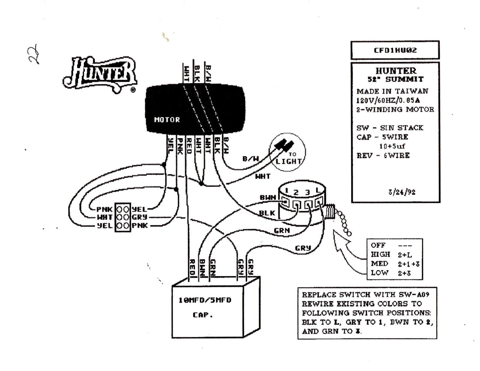 Hunter Ceiling Fan Wiring Schematic