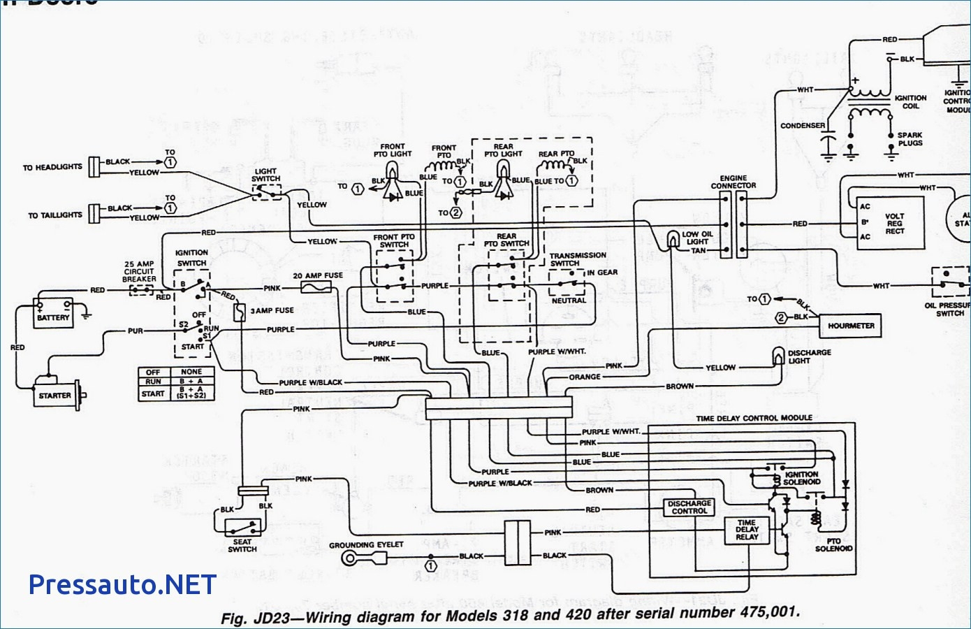 john deere 2150 wiring diagram repair manual John Deere 110 Wiring Diagram