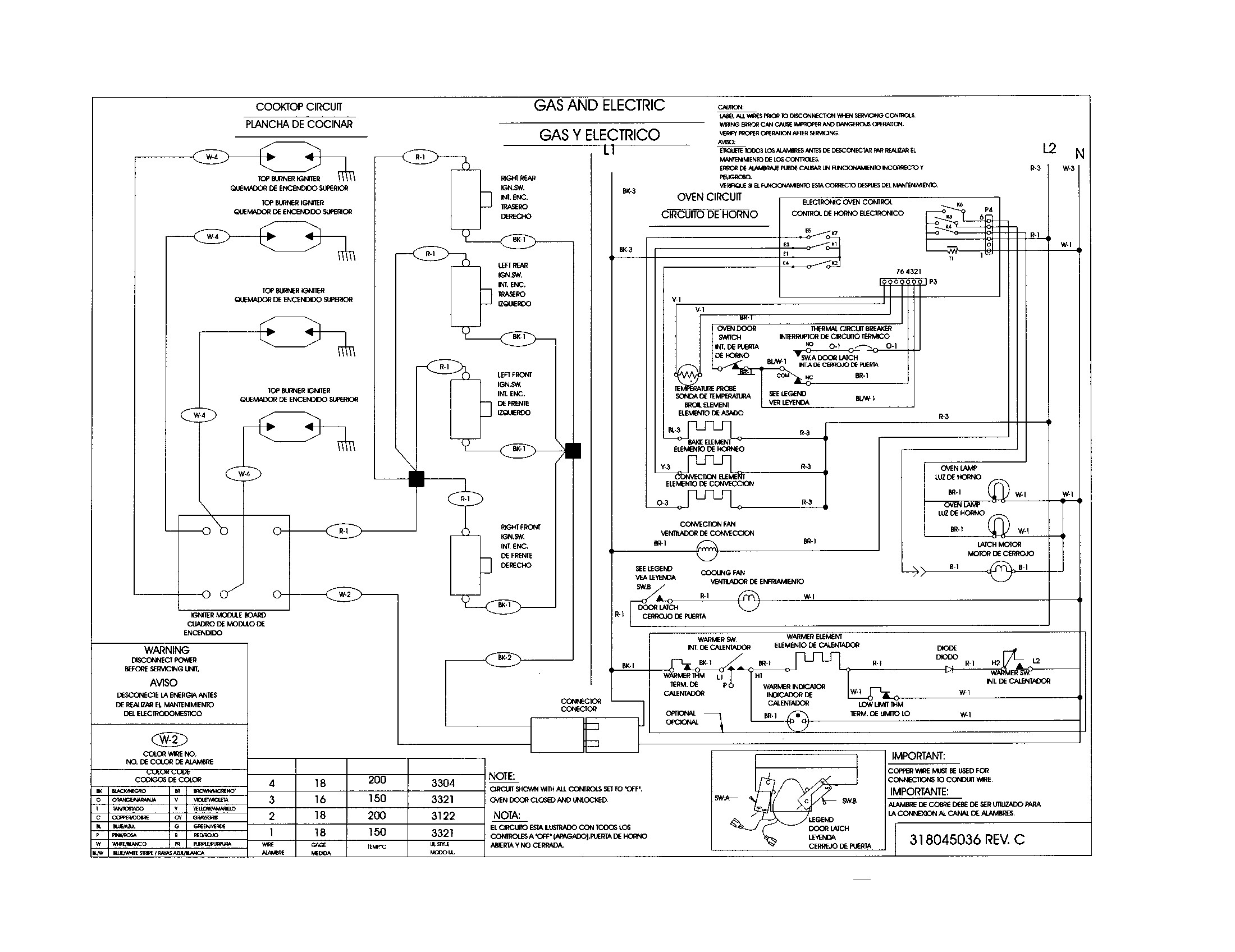kenmore electric range wiring diagram