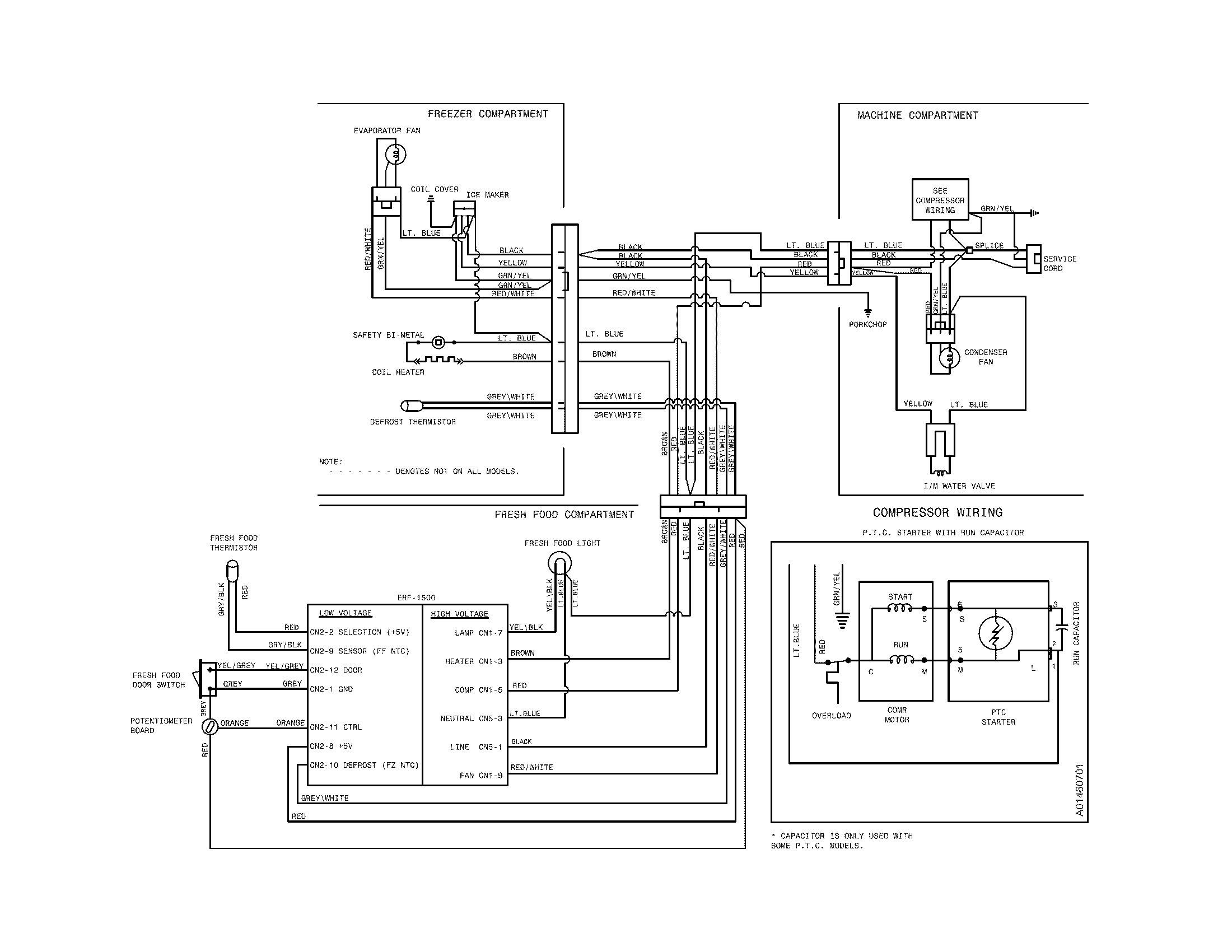 Kenmore Refrigerator Wiring Diagram
