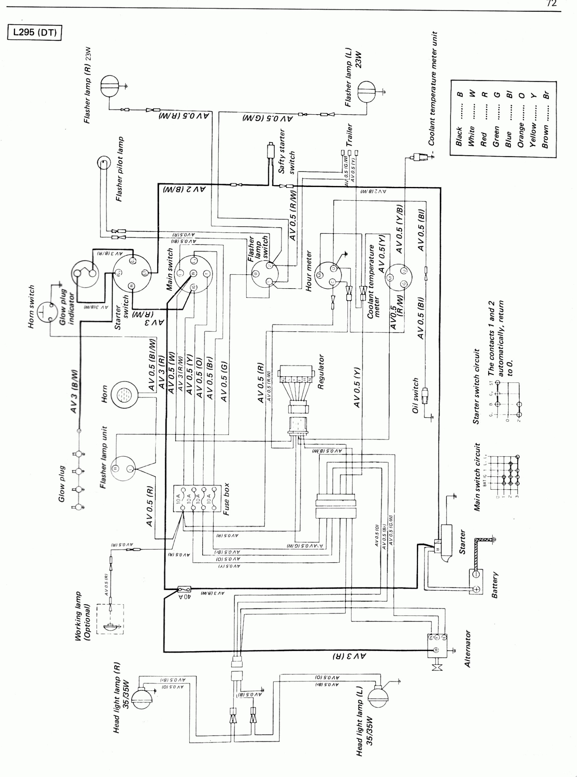 Kubotasel Ignition Switch Wiring Diagram