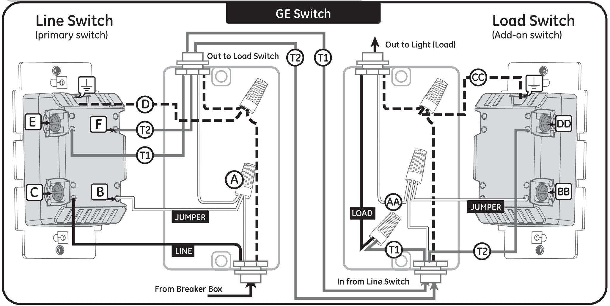 leviton 3 way switch wiring schematic