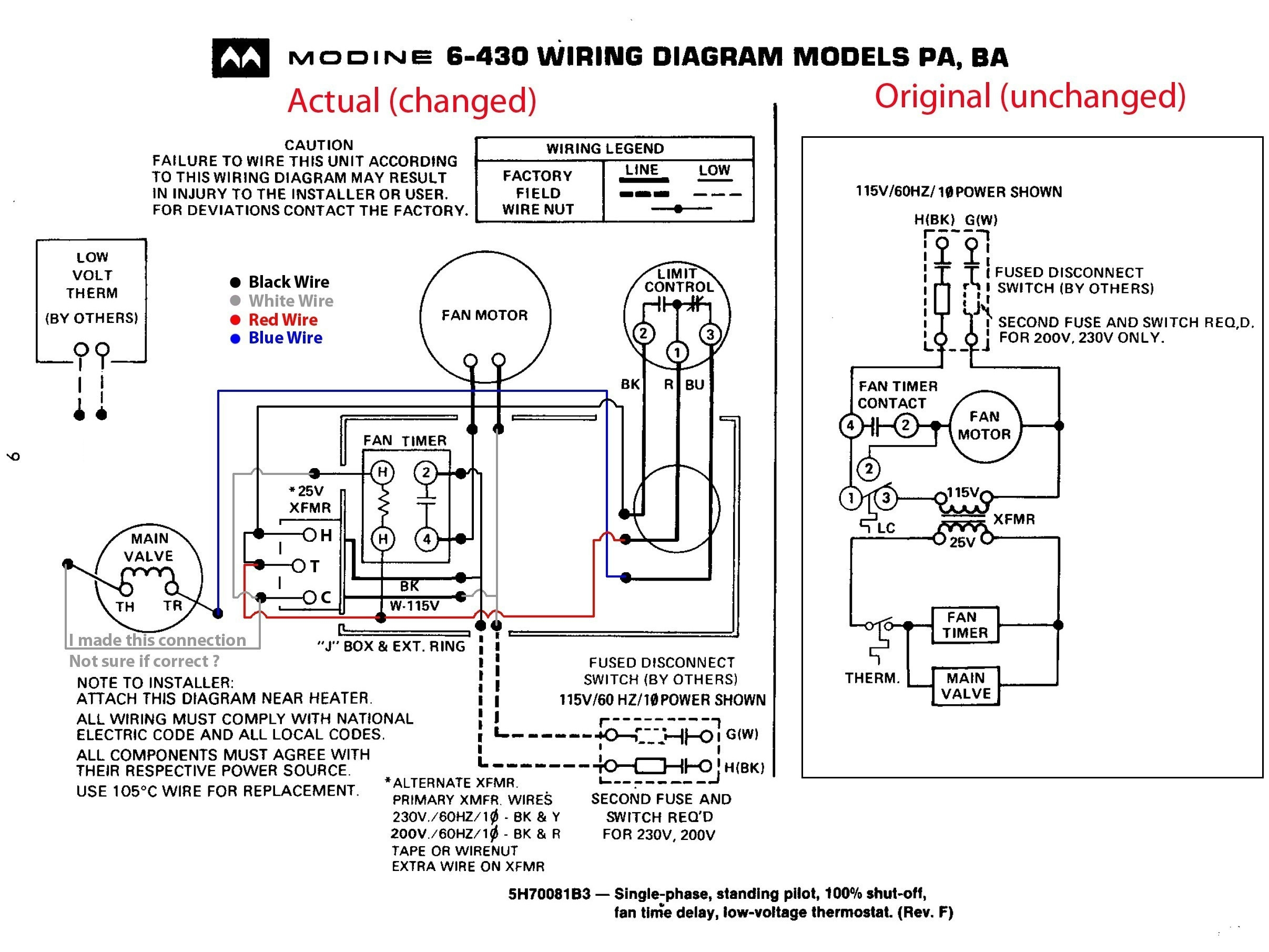 Mars Air Curtain Wiring Diagram