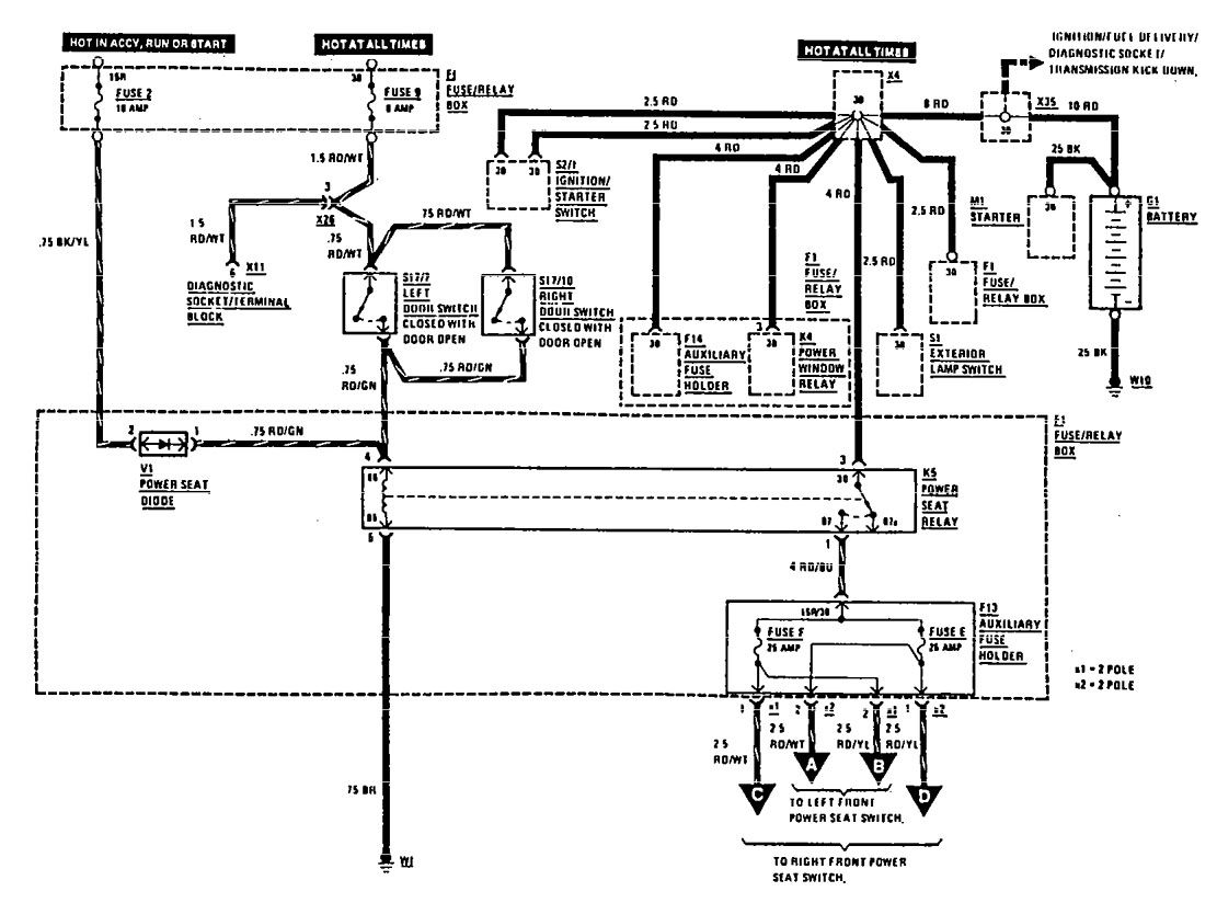 Mercedes Power Seat Wiring Diagram