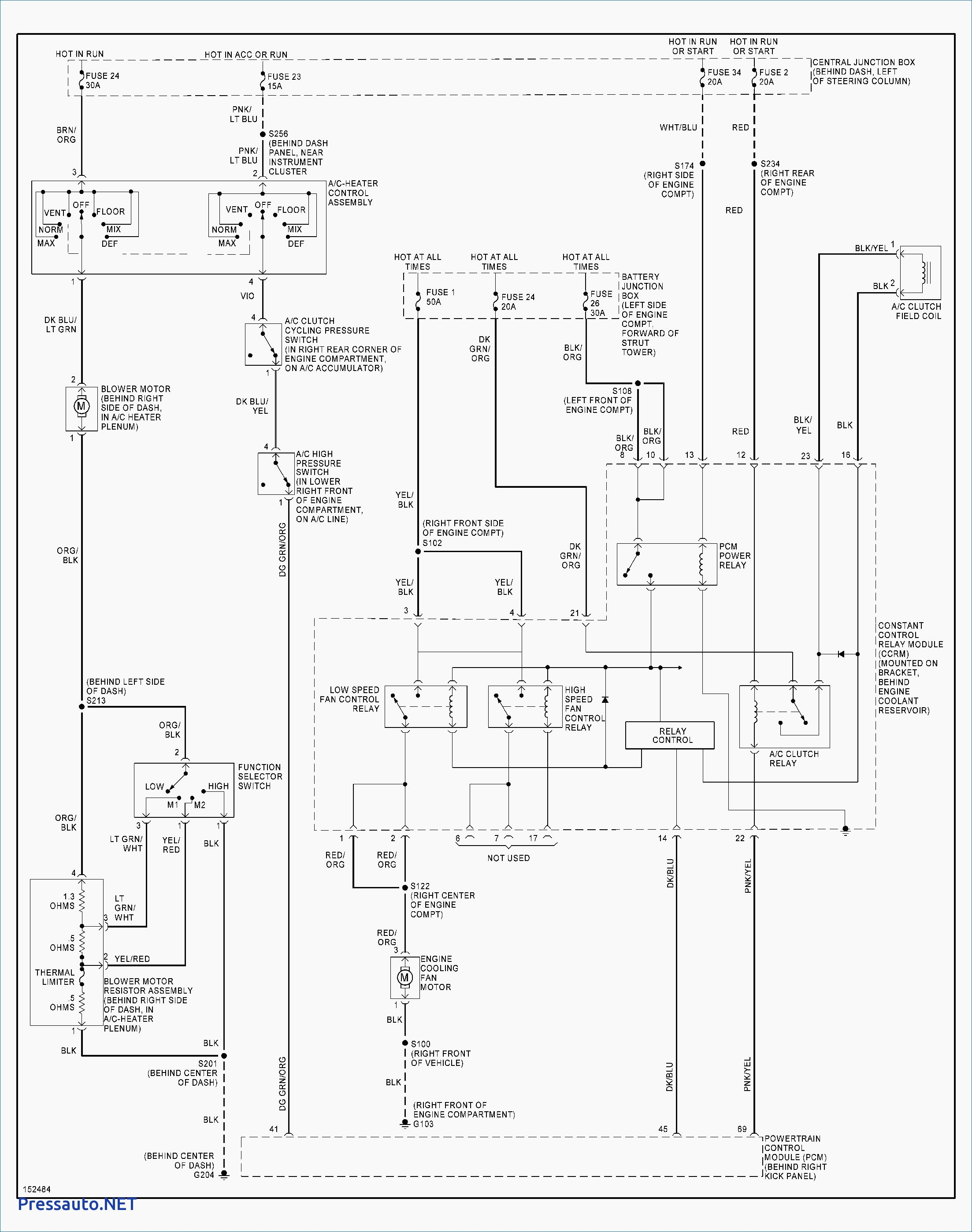 A C Compressor Capacitor Wiring Diagram
