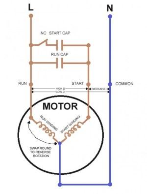 Single Phase Motor Wiring Diagram forward Reverse | Free