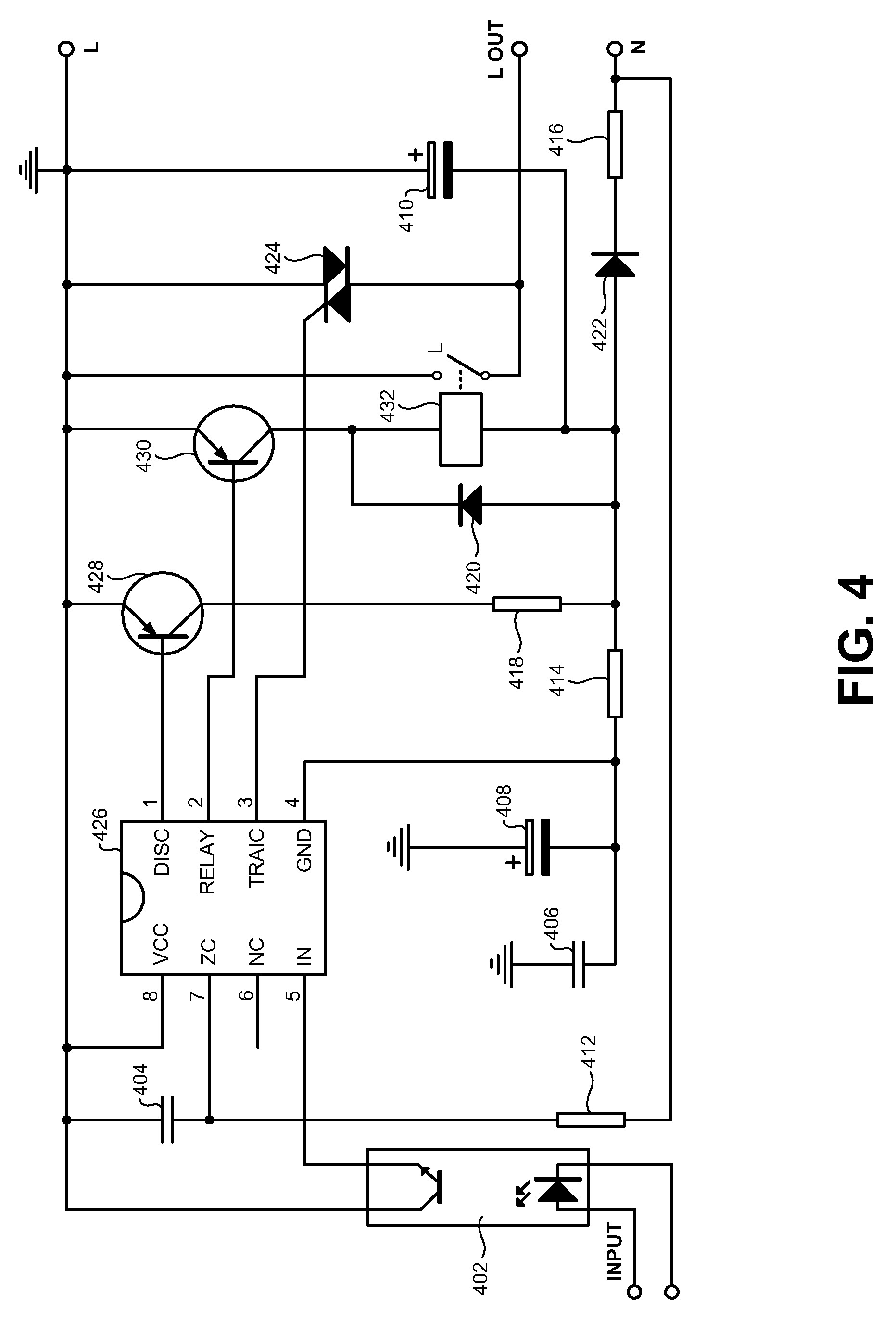 Solid State Relay Circuit Schematic