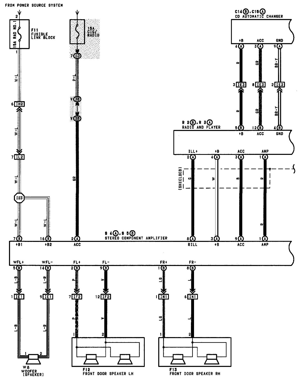 Toyota Radio Wiring Diagram