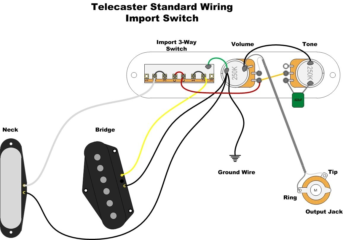 Vintage Telecaster Wiring Diagram
