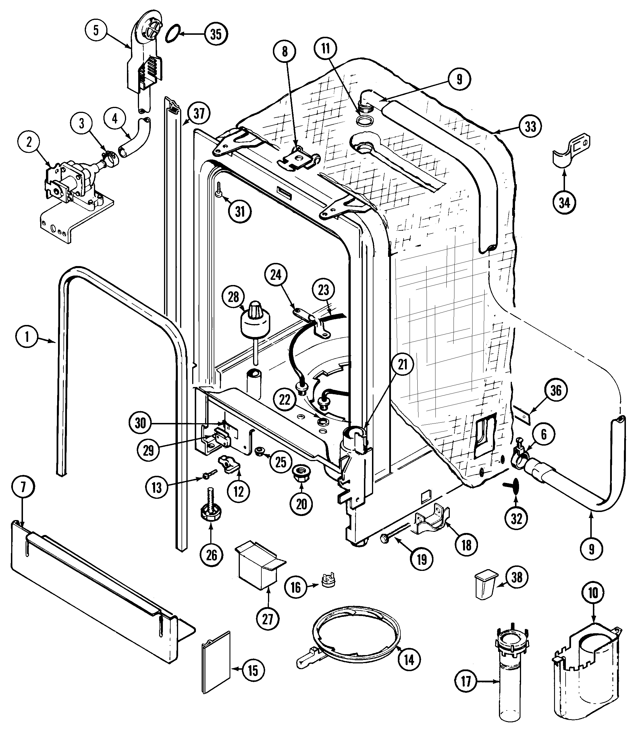 Whirlpool Dishwasher Wiring Diagram
