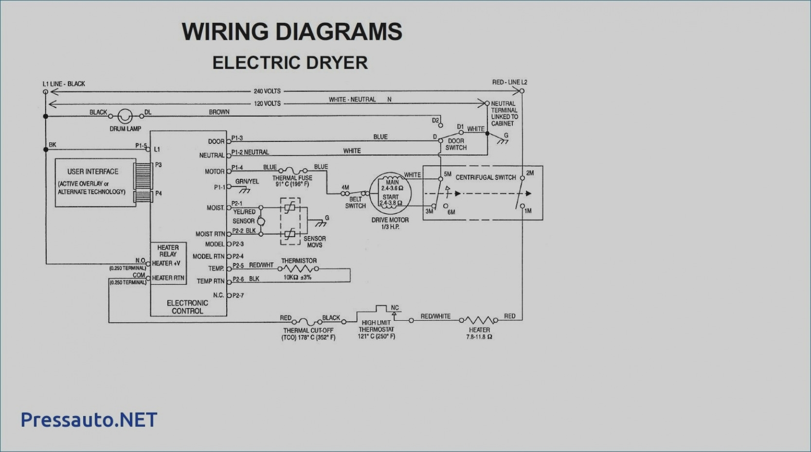 Whirlpool Electric Dryer Wiring Diagram