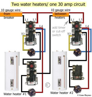 Wiring Diagram for Hot Water Heater thermostat | Free