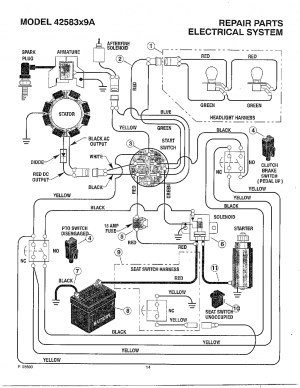 Ariens Lawn Tractor Wiring Diagram | Wiring Library