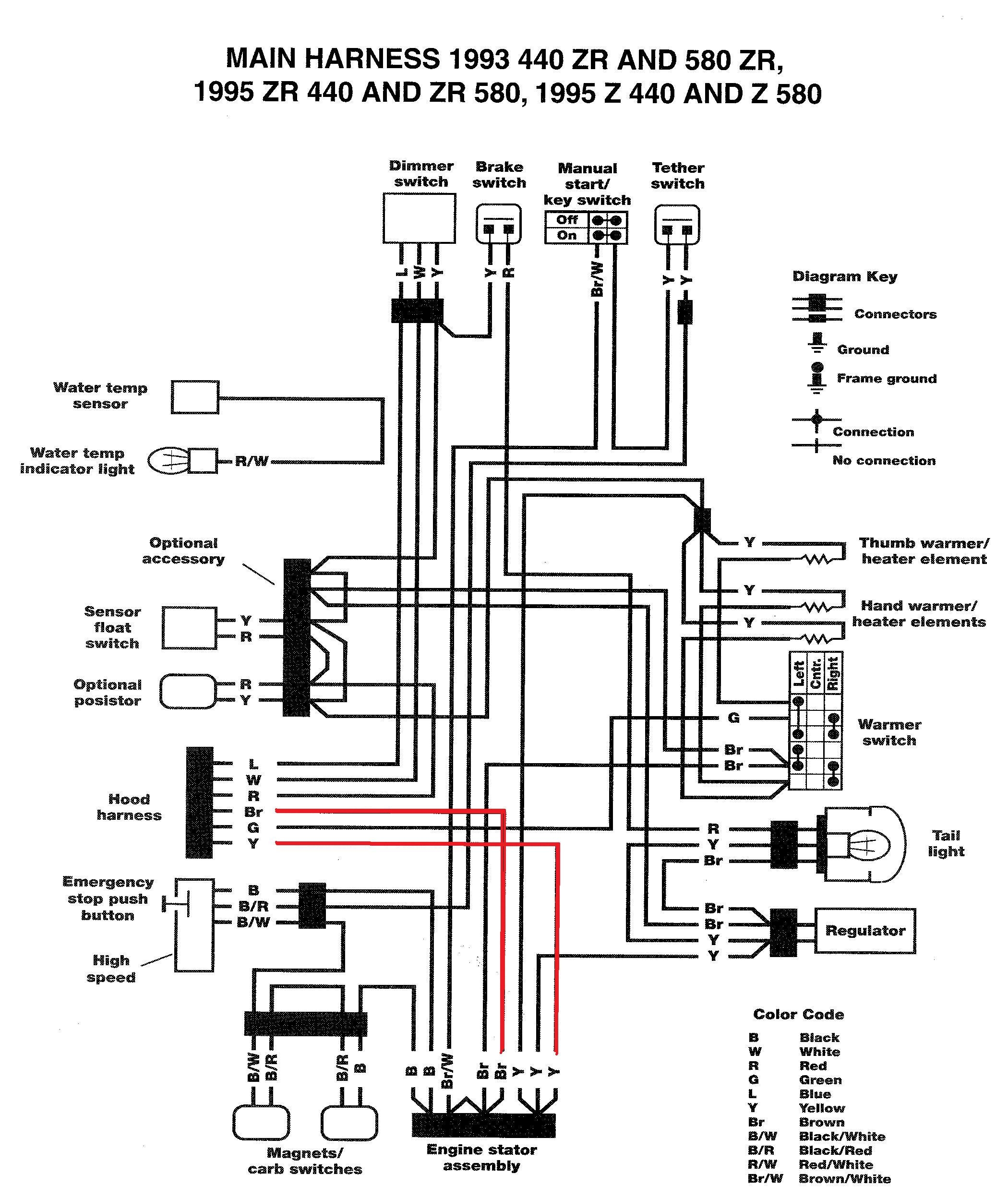 yamaha 600 wiring diagram wiring diagram center Yamaha Snowmobile Wiring Diagrams