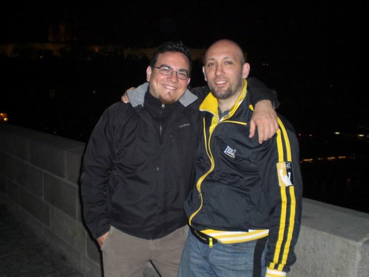 Con il mio allievo Pasquale Mazzotta, a Praga