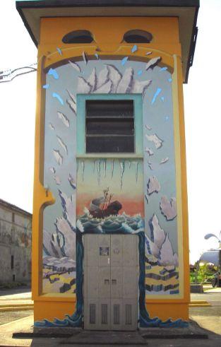 cabina enel - circa 3x8 m - acqua-terra