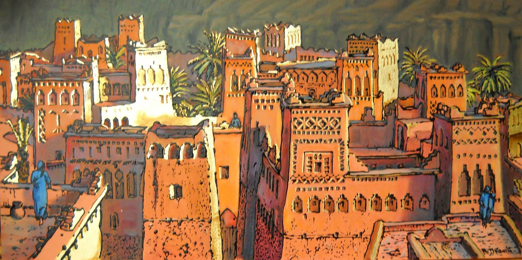 casbah tetti - 100x50 - acrylic and glaze on canvas - 2011